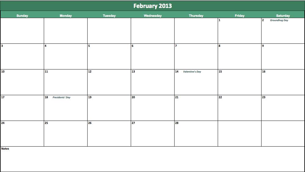 7 Best Images of Printable Blank Calendar February 2013 ...