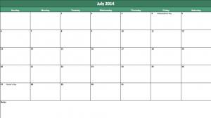 july 2014 calendar template