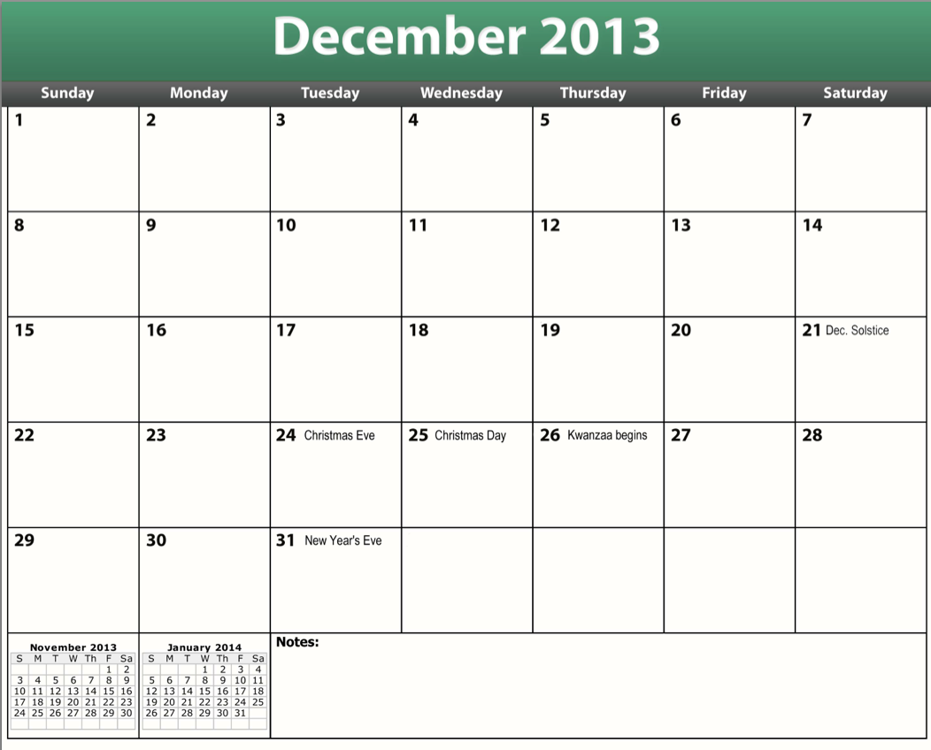 December 2013 Calendar Images & Pictures - Becuo