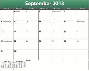 great printable pdf september 2013 calendar