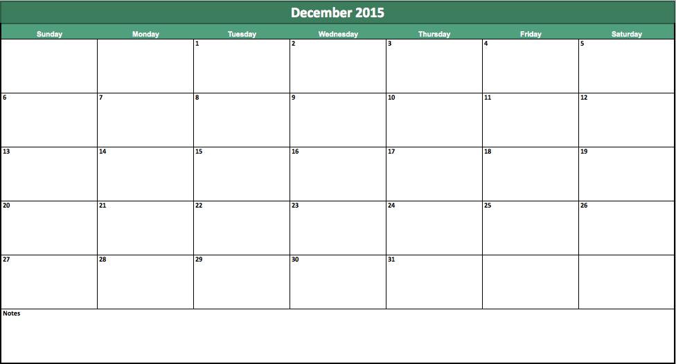 2014 2015 Excel Calendar Template | Calendar Template 2016