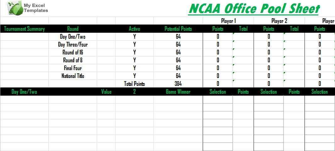 ncaa office pool march madness pool