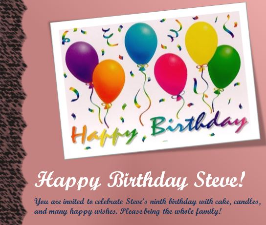 My Excel Templates  Birthday Invitations Templates Word