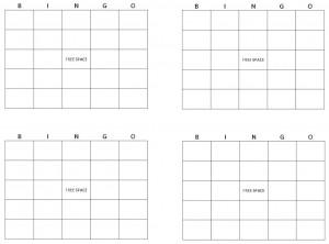Screenshot of Blank Bingo Cards