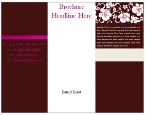 Free Brochure Template for Word