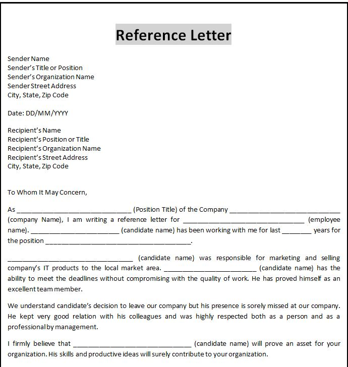 Business Letter Template Word | Word Business Letter Template