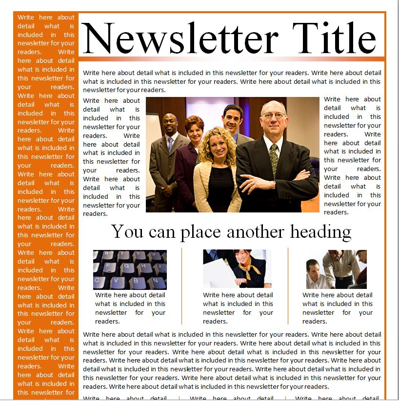 Business Newsletter Templates  Business Newsletter Templates Free