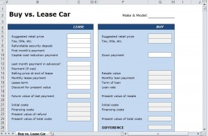 FREE Lease vs Buy Car Calculator
