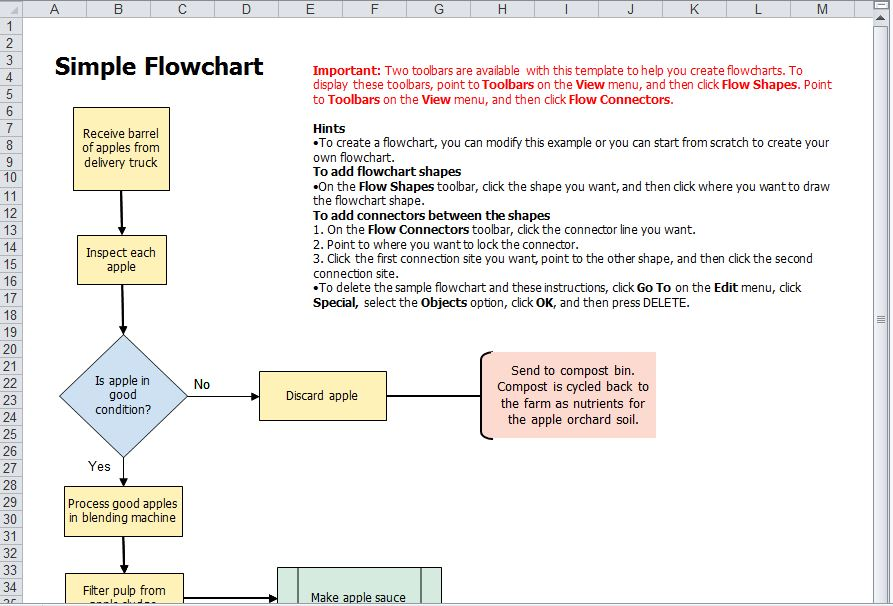 excel flow chart new calendar template site