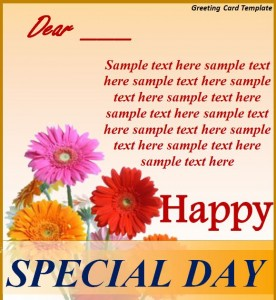 Greeting Card Template from MyExcelTemplates.com