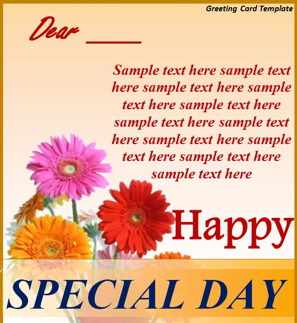 Greeting Card Template  Greeting Card Template Free