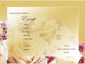 Invitation Template from MyExcelTemplates.