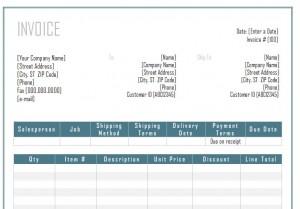 Invoice Template Word screenshot