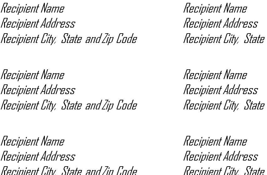 microsoft office word label templates