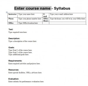 create a syllabus template syllabus template course syllabus template