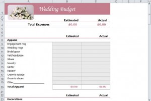 FREE Wedding Budget Template from MyExcelTemplates.com.