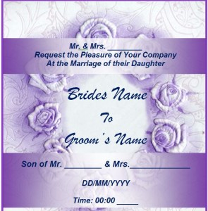 Free Wedding Invitation Template from MyExcelTemplates.com.