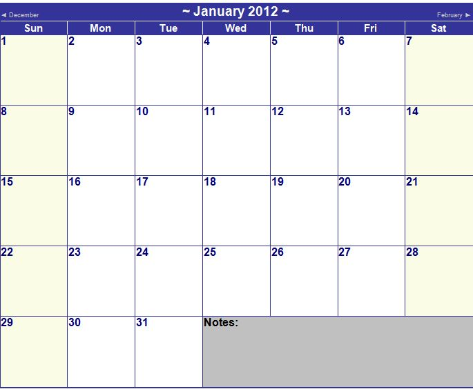 Calendar Template For Ms Word from myexceltemplates.com