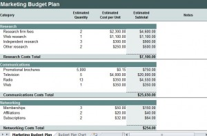 Marketing Budget Plan Template FREE