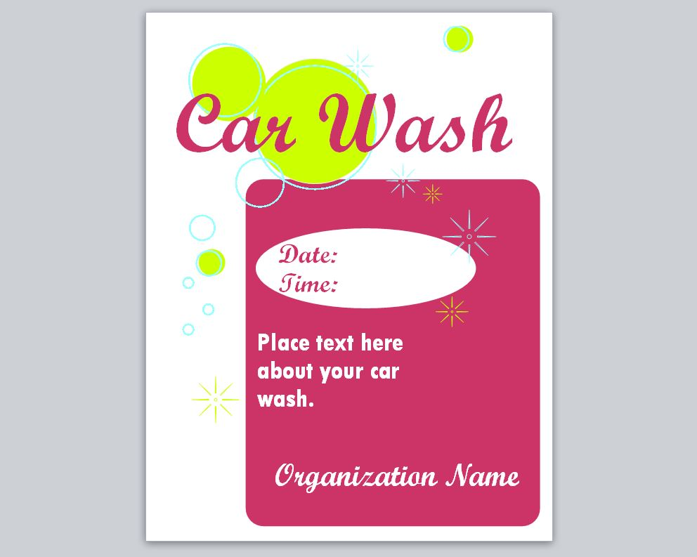 Car Wash Flyer Template Car Wash Template