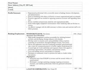 Free Banker Resume Template
