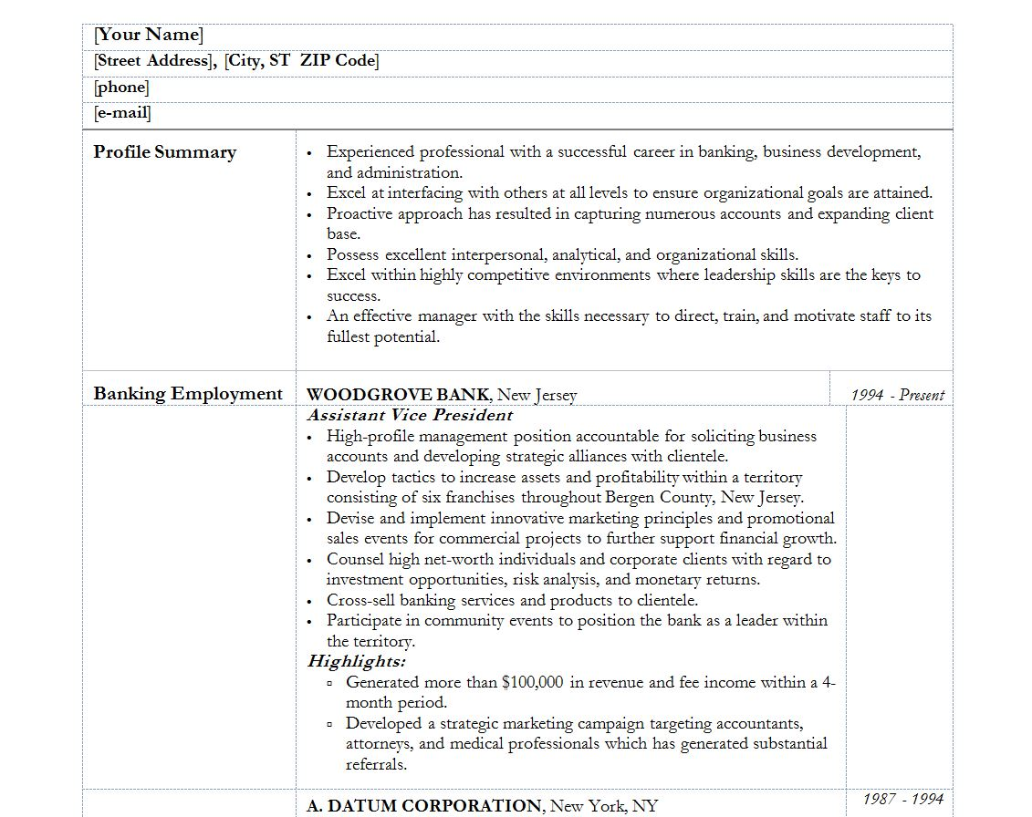 [Personal Banker Resume Template Best Naukri Gulf Services