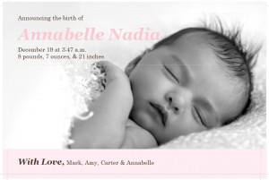 Birth Announcement Template photo