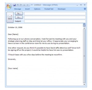 Photo of the Business Email Template
