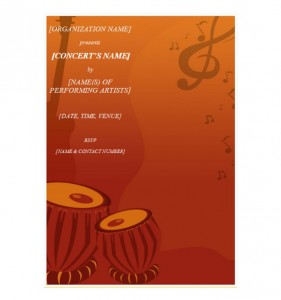 concert invitation template