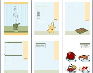 cookbook template recipe book template