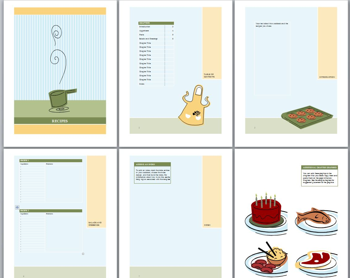 word recipe book template koni polycode co
