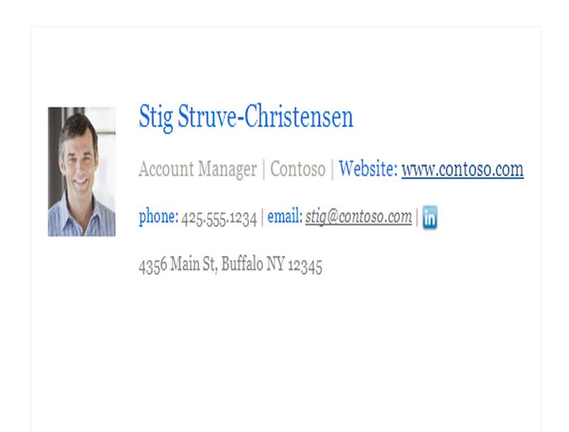 Business templates free business templates for Company email signature template