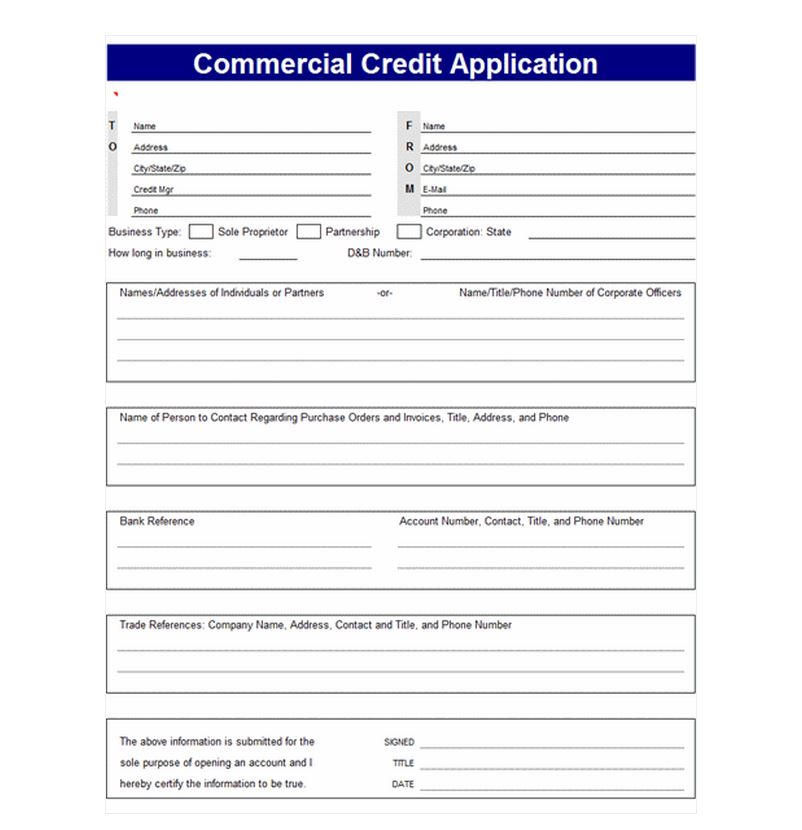 credit applications templates credit application template credit application templates