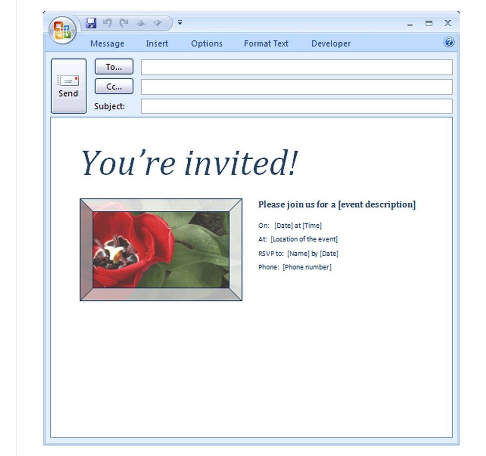 Email party invitation templates stopboris Images