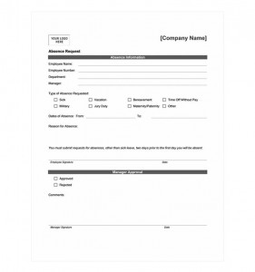 Photo of the Employee Time Off Request Form