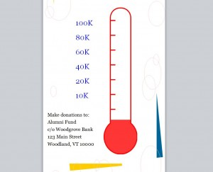 Fundraising goal thermometer fundraising goal banner for Free fundraiser thermometer template