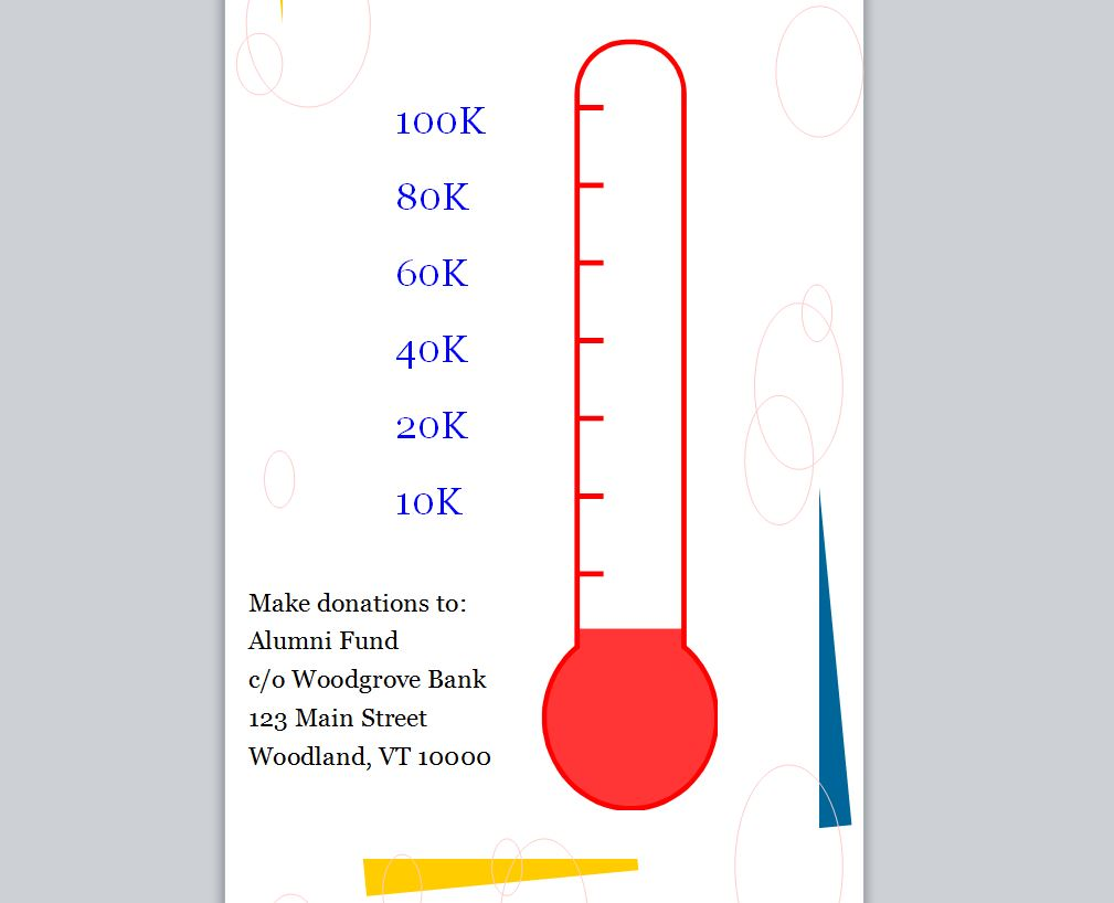 Excel thermometer goal templates editable autos weblog for Charity thermometer template