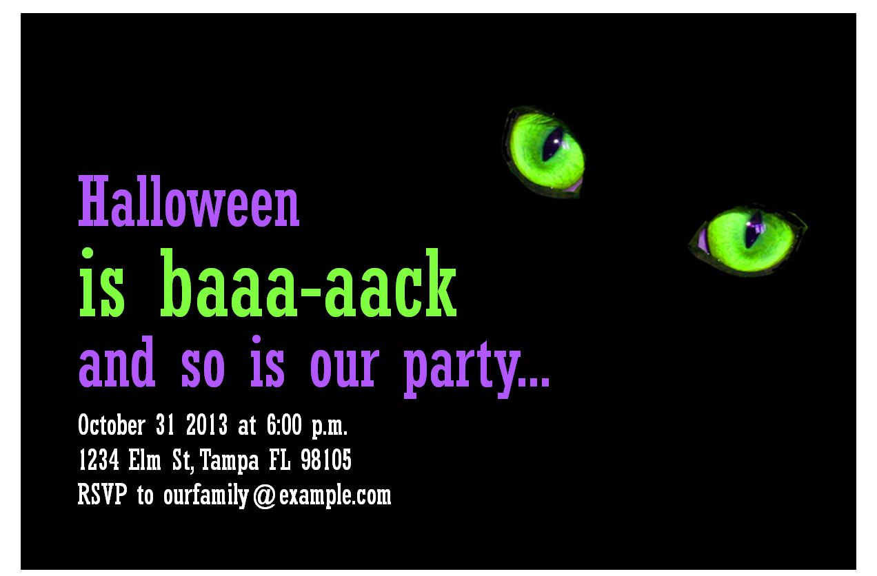 halloween party invitations halloween party template