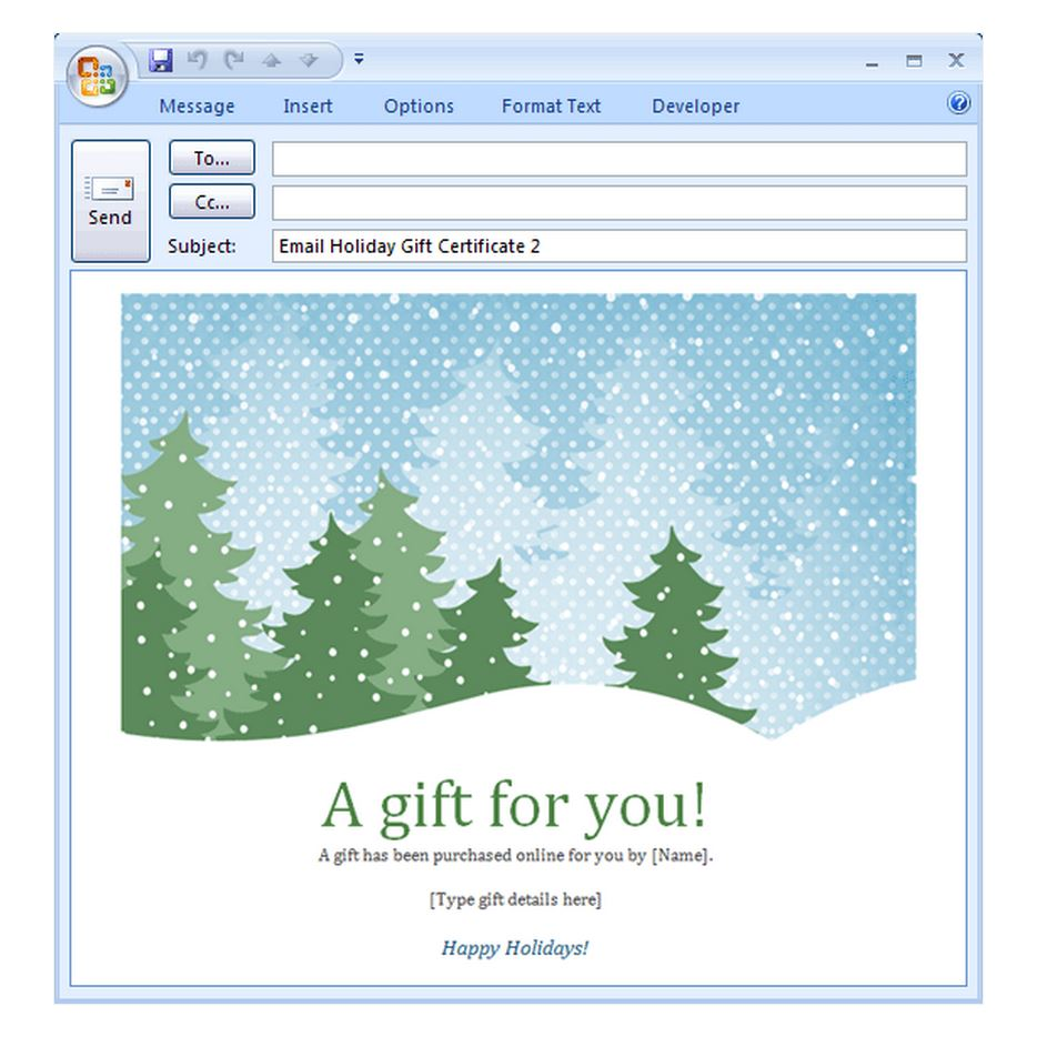 Free Holiday Email Template