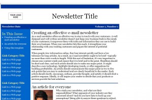 Newsletter Email Template