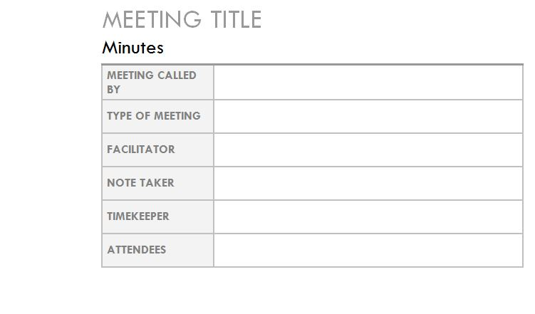 outlook meeting minutes template outlook meeting minutes template