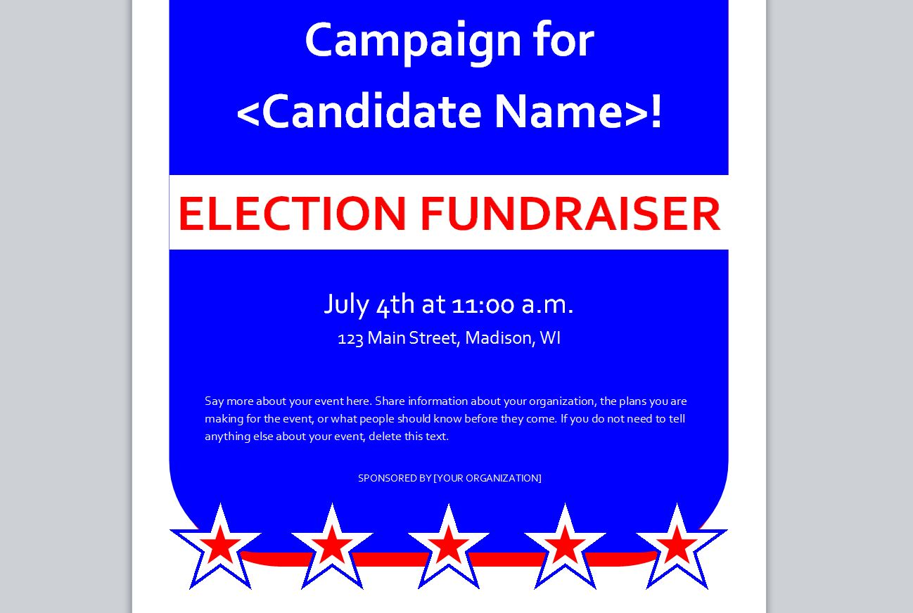 Political Flyer Template Free Political Flyer Template - Fundraising brochure template