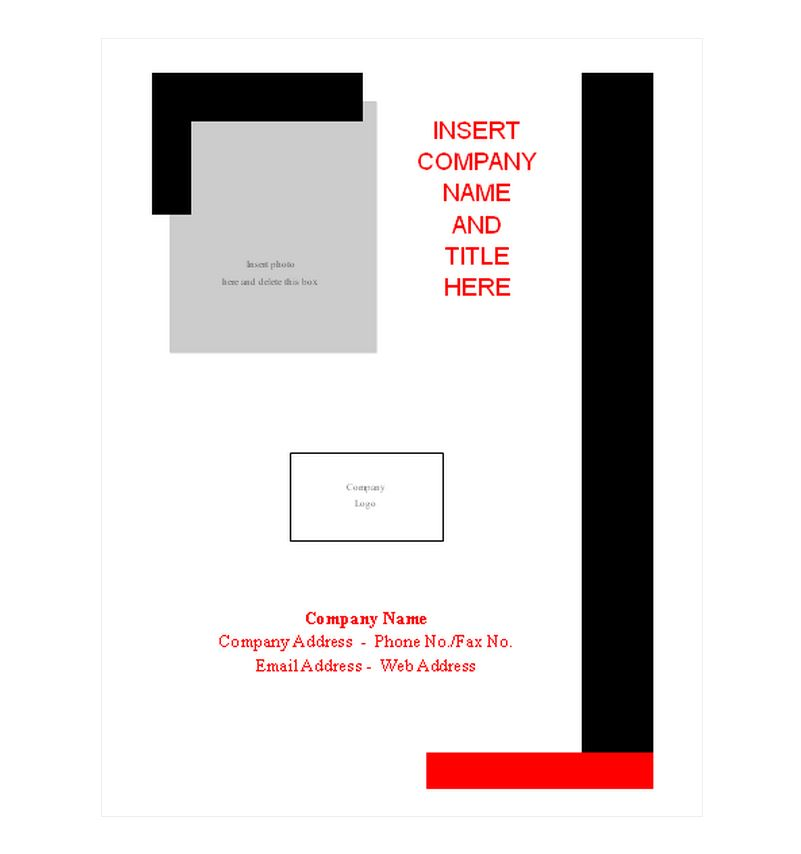 Report Cover Page Template | Report Cover Page