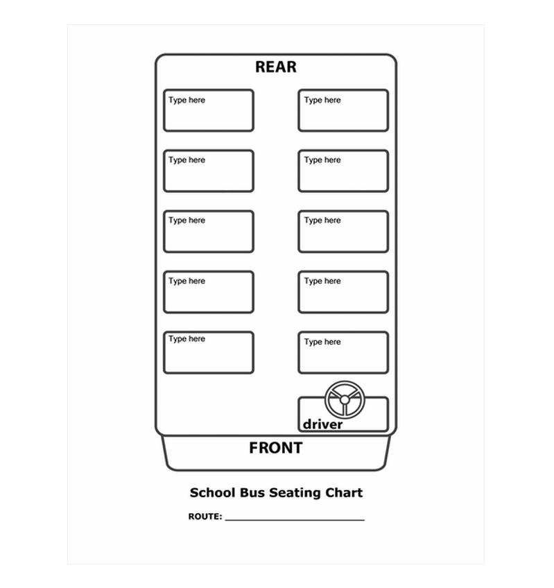 School Bus Seating Chart