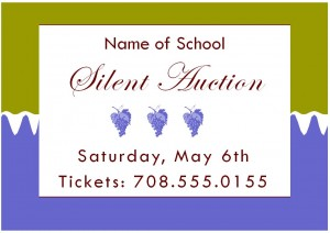 Photo of the Silent Auction Template