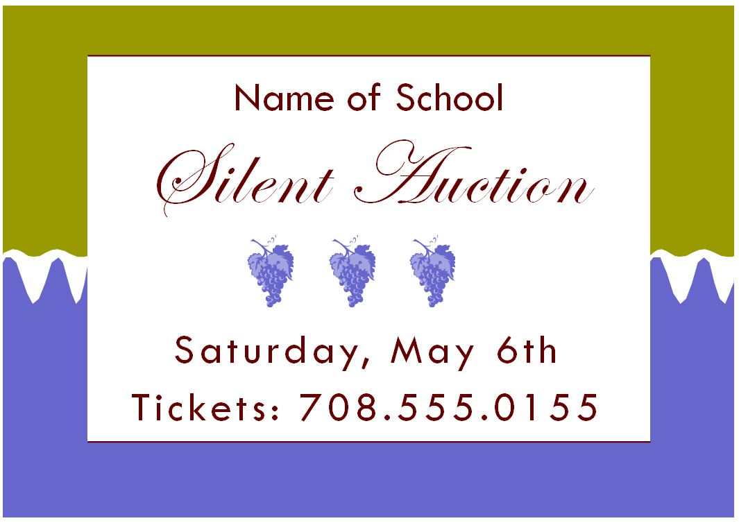 silent auction flyer template silent auction template silent auction