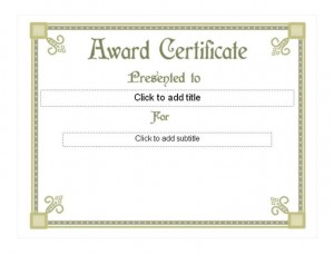 Student Award Template photo