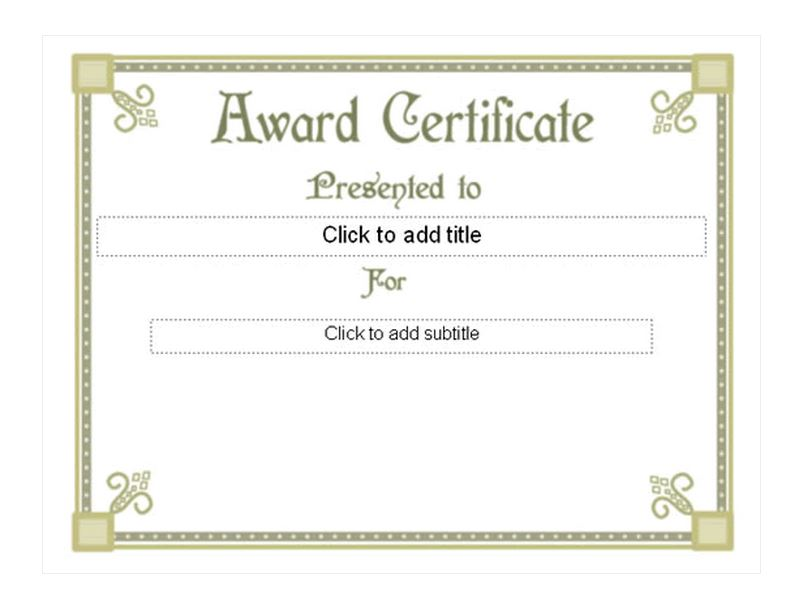 First Place Certificate Template  First Place Award Template