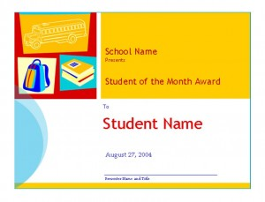 Photo of the Student of the Month Template