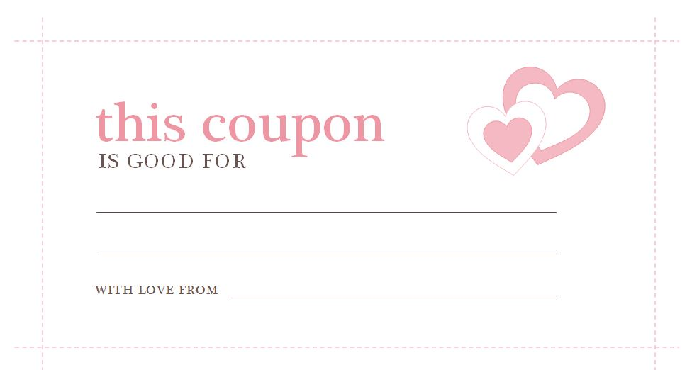 Valentines Day Coupons | Valentines Day Coupon Template